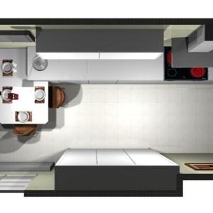 3182 Estudiar y valorar cocina integrada de mas de 15 m2