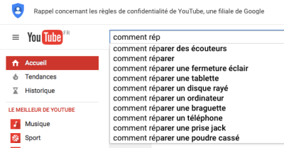 Youtube pour trouver des idées