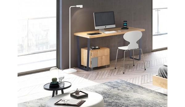 bureau moderne en bois de teck