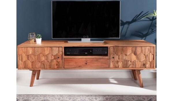 meuble tv scandinave effet marqueterie 3d