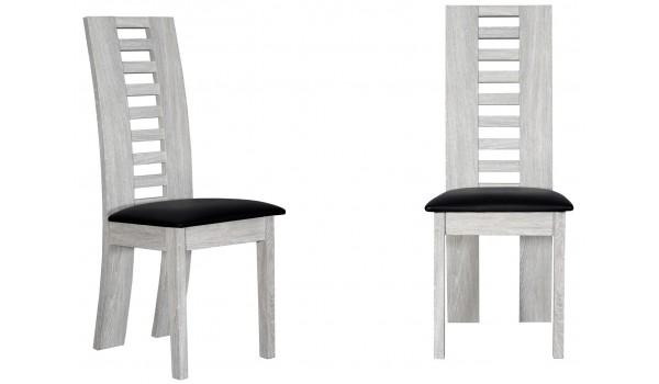 chaises de repas en bois chene gris clair