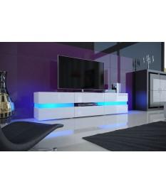meuble tv design blanc laque