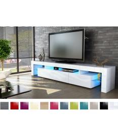 meuble tv design laque blanc pour salon