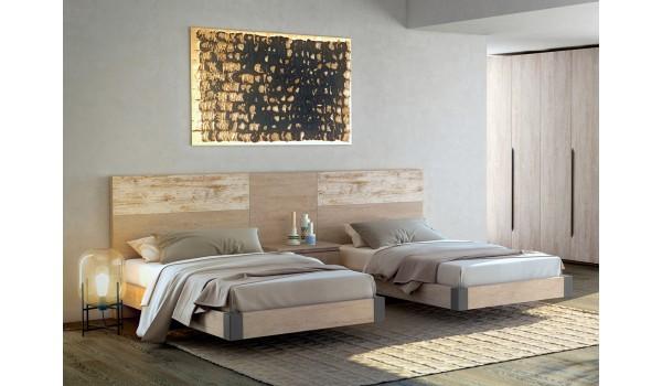 lit double couchages separes chevet tete de lit