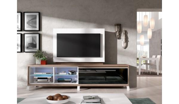 panneau tv pivotant avec rangement meuble tv