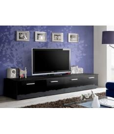 meuble tv bas 2m noir pour salon