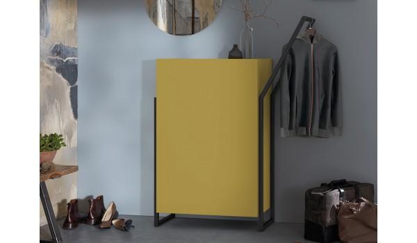 meuble d entree design coloris jaune vintage