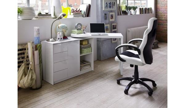 bureau moderne blanc avec rangement