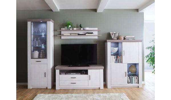 ensemble salon tv bois moderne