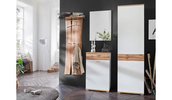 meuble d entree vestiaire design blanc bois