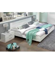 lit 180x200 cm blanc chambre adulte