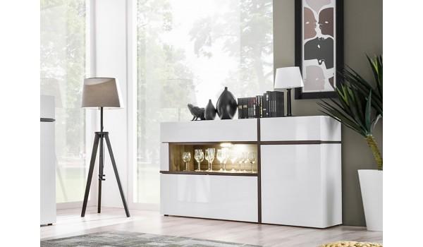 meuble buffet design blanc bois