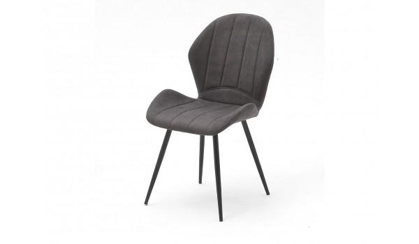 chaise en tissu design pas cher coloris grise ou sable