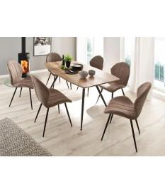 table a manger bois 4 pieds metal