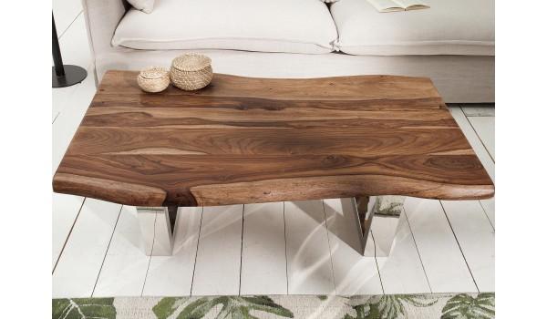 table basse design 110 cm bois massif