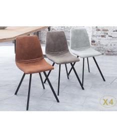 chaises design pas cher pieds metal