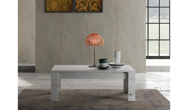 table basse rectangulaire 122 cm deco chene blanchi
