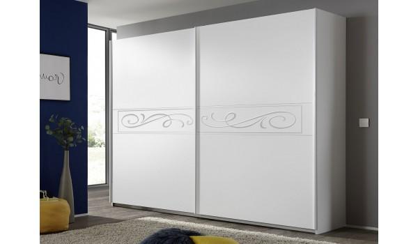 armoire blanche a porte coulissante 275 cm