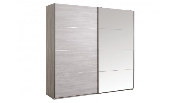 armoire de chambre avec miroir 2 portes coulissantes