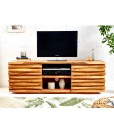 meuble tv en bois d acacia massif