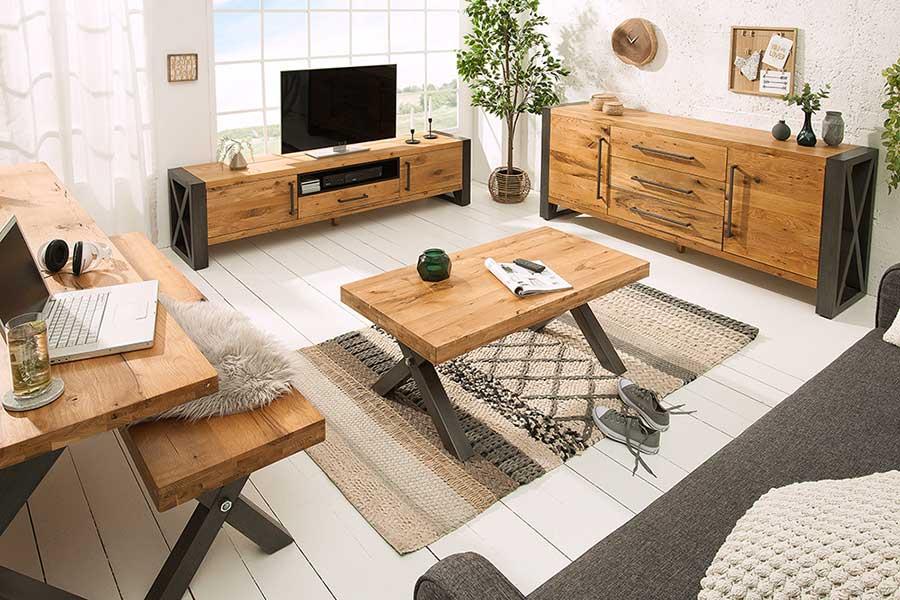 meuble tv bois et metal look industriel