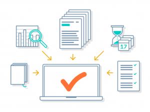 customer relationship management service Clients Portal - laptop