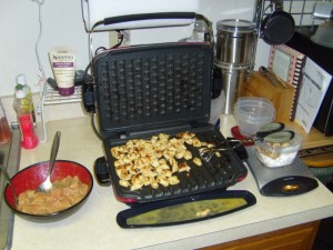 Chicken breast -> Grill -> Weigh and pack