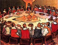 Chevaliers Table Ronde et Enfants Interieurs