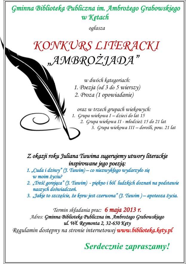 Ambrożjada, plakat, 2013 tv