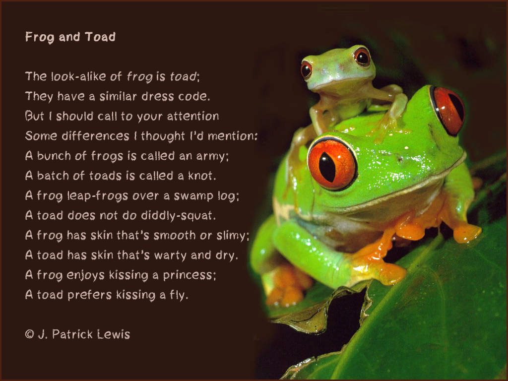 Frog Month Special Frog And Toad By J Patrick Lewis