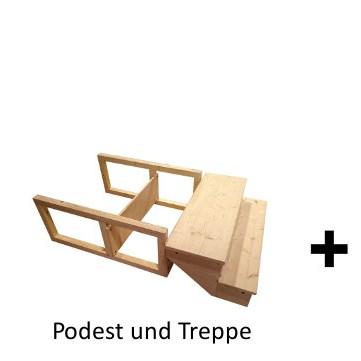 Biolan 'eco' + Podest und Treppe + Häuschen 'Wiese'