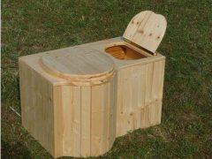 nowato Komposttoilette 'Der Schmetterling' · aus Fichte, lackiert · Sitz links