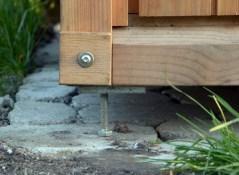 Option für Toilette 'Wiese': Stahlrahmen