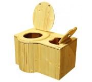"""nowato Komposttoilette """"Der Schmetterling"""" · aus Fichte, lackiert · Sitz links"""