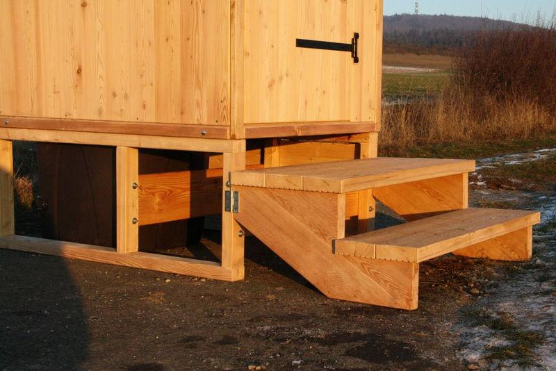 Toilettenhaeuschen Wald-Standard mit Podest ohne optionale Verkleidung