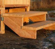 Toilettenhaeuschen Wald kompakt aus Laerche mit Biolan: Treppe