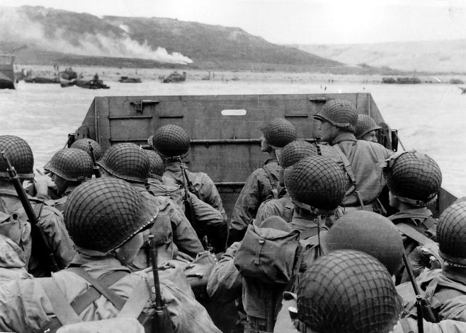 Actual D-Day Landing in Higgins Boat June 6 1944