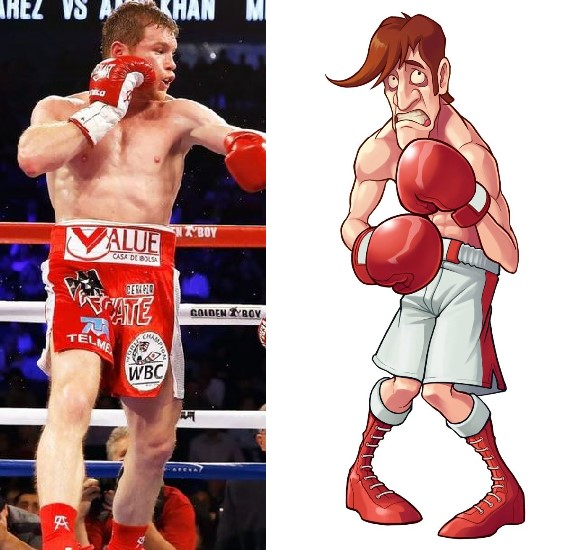 They had Canelo Alvarez fighting Glass Joe from Mike Tyson's Punch-Out