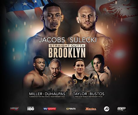 Watch Daniel Jacobs vs Maciej Sulecki, Katie Taylor vs Bustos Livestream on NowTV