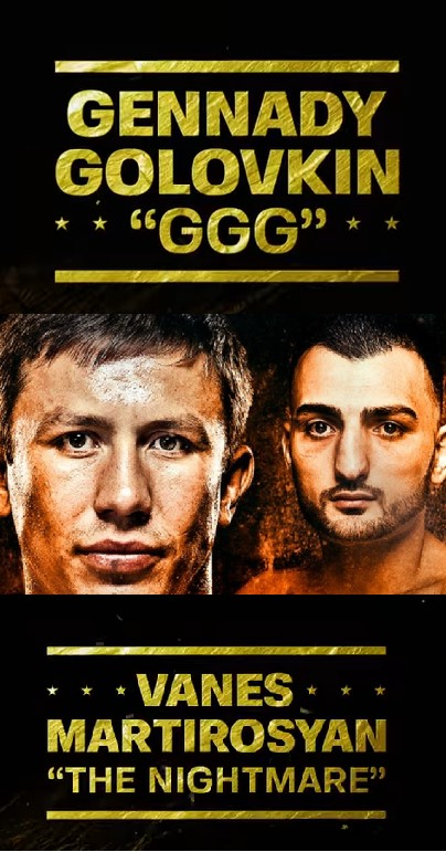 Watch The Golovkin vs Martirosyan Middleweight Championship Live Online