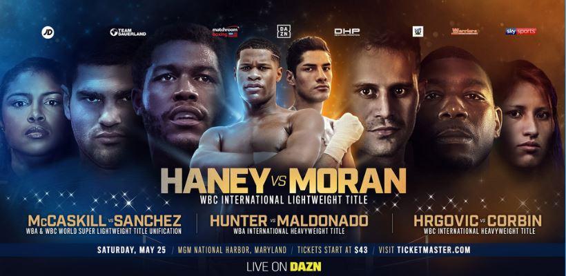 Devin Haney vs Antonio Moran, Jessica McCaskill vs Anahi Sanchez Live Online