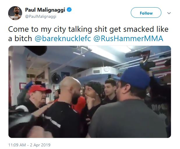 Paulie Malignaggi Slaps Artem Lobov at Bare Knuckle FC Media Day