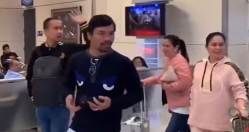 Photo: Manny Pacquiao arrives in Texas to watch Spence Jr vs. Mikey Garcia