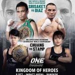 "One Championship ""Kingdom of Heroes"" Srisaket Sor Rungvisai vs Iran Diaz Live on YouTube"