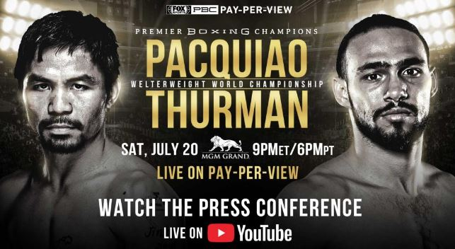 Watch Pacquiao vs Thurman New York Press Conference Live Stream Video