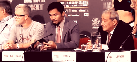 Has Pacquiao dropped Bob Arum and Freddie Roach for next fight?