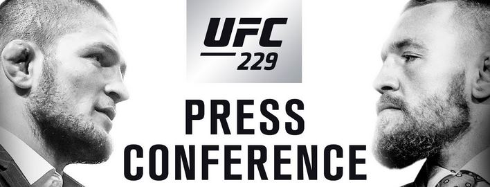UFC 229 Press Conference: Khabib Nurmagomedov vs Conor McGregor Live Video Stream