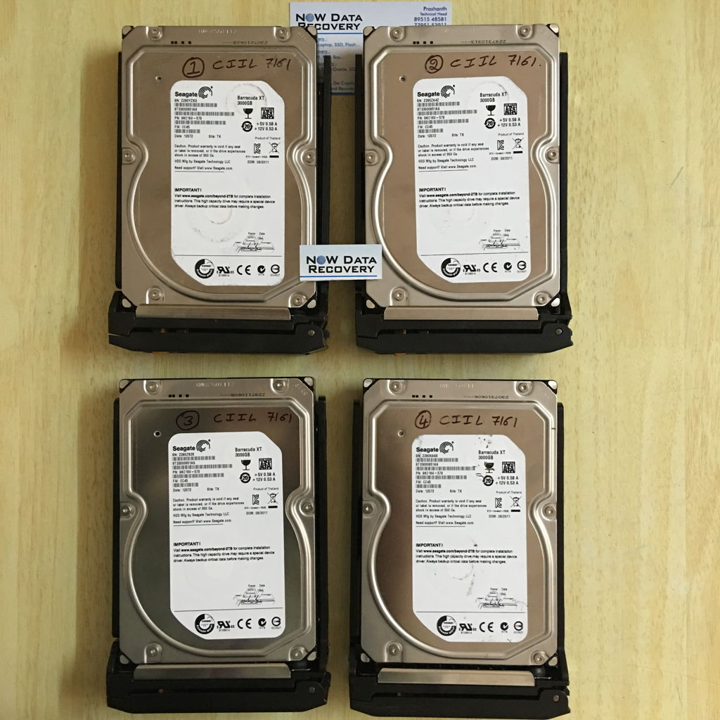 Seagate Black Armor NAS Box 2 TB x 4 Drives data recovery