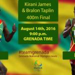 Prime Minister Congratulates Grenadian Olympic 400m Finalists