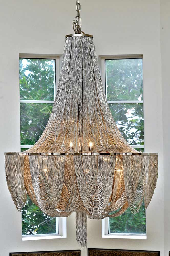 Maxim Lighting Chantilly 10 Light Chandelier In Polished Nickel